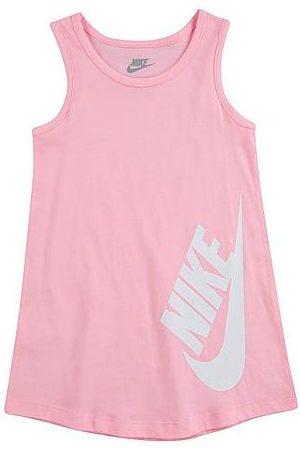 Nike Girls' Toddler Futura Tank Dress in Pink/Arctic Punch Size 2 Toddler 100% Cotton/Knit
