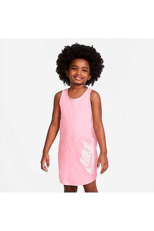Nike Girls' Little Kids' Futura Tank Dress in Pink/Arctic Punch Size 4 100% Cotton/Knit