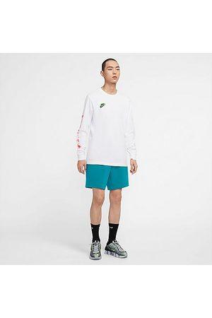 Nike Men Sports Shorts - Men's Sportswear Tech Fleece Shorts in /Aquamarine Size 2XLT Cotton/Polyester/Fleece