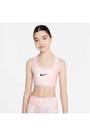 Nike Girls Bras - Girls' Swoosh Tie-Dye Reversible Sports Bra - Medium Support Size Small Polyester/Spandex/Knit