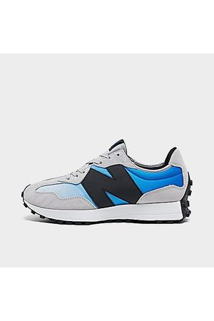 New Balance Men Casual Shoes - Men's 327 Casual Shoes in Grey/ /Cobalt Size 8.0 Nylon/Suede