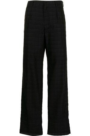 Emporio Armani Check-print straight leg trousers