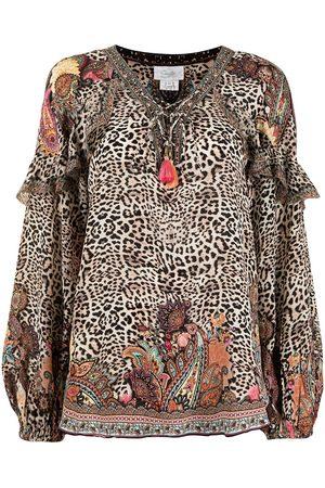 Camilla Wild Child leopard-print blouse - Multicolour