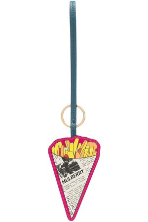 MULBERRY Women Keychains - Fish and chips keyring