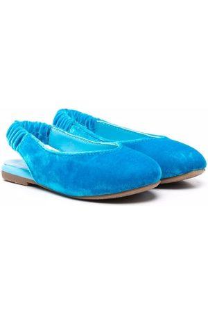 Age of Innocence Matilda velvet ballerina shoes