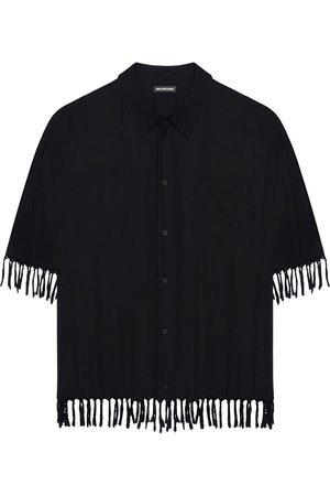 Balenciaga Women Short sleeves - Fringe-detail short-sleeve shirt