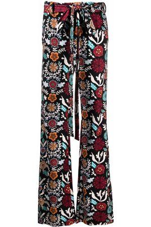 La DoubleJ Tie-waist flared trousers