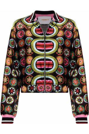 La DoubleJ Graphic-print bomber jacket
