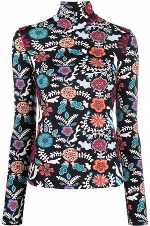 La DoubleJ Women Turtlenecks - Floral-print rollneck jumper