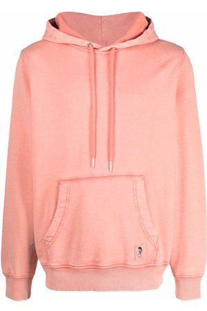 Diesel Logo-patch garment-dyed hoodie