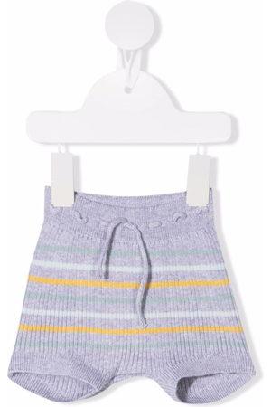 KNOT Shorts - Striped ribbed-knit shorts - Grey