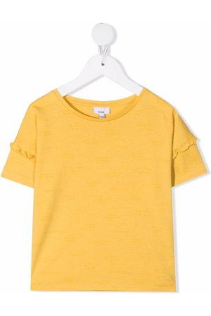 KNOT Girls T-shirts - Ruffle-detail cotton T-Shirt