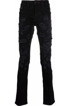 Philipp Plein Men Straight - Super-straight destroyed jeans