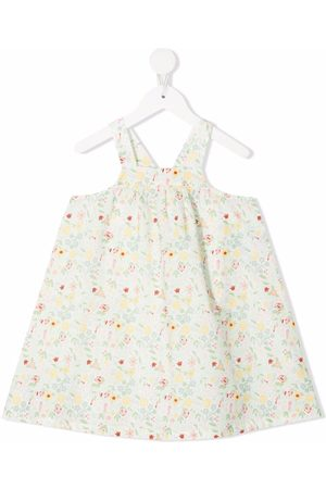 KNOT Floral-print A-line dress