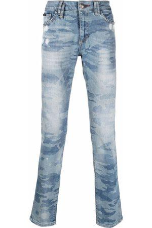 Philipp Plein Men Slim - Camouflage-print slim fit jeans