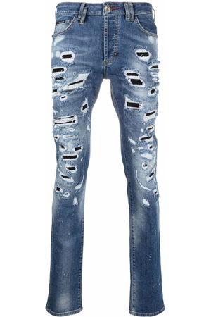 Philipp Plein Straight-leg distressed jeans