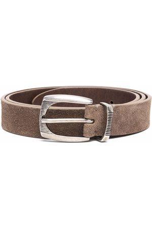 Brunello Cucinelli Men Belts - Buckle-fastening suede belt