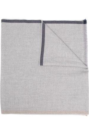 Brunello Cucinelli Frayed edge wool scarf - Grey