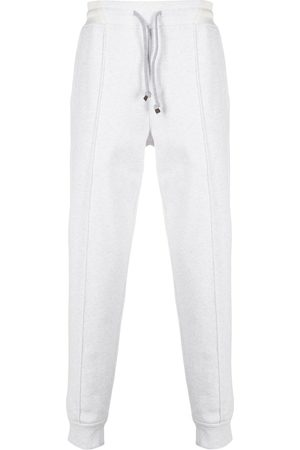 Brunello Cucinelli Men Sweatpants - Drawstring track pants - Neutrals