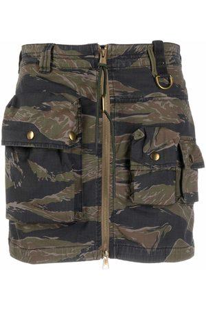 Diesel Tiger-camouflage print mini skirt