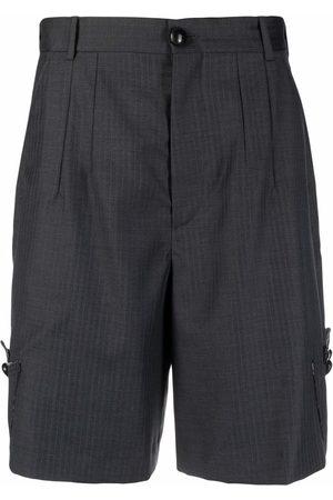 Namacheko Men Shorts - Appliqué-detail tailored shorts - Grey