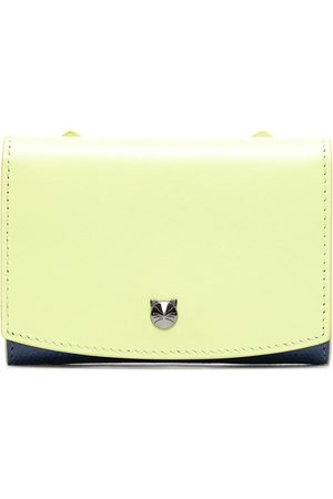 BAPY Cut-out logo leather wallet