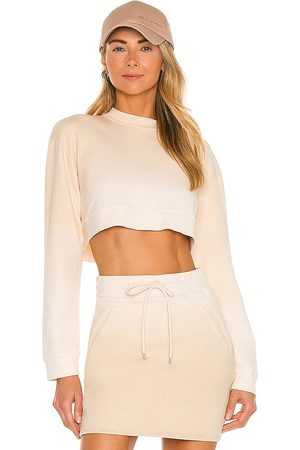h:ours Malika Cropped Sweatshirt in Neutral.