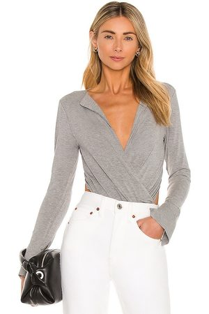 L'Academie Lapel Bodysuit in Grey.