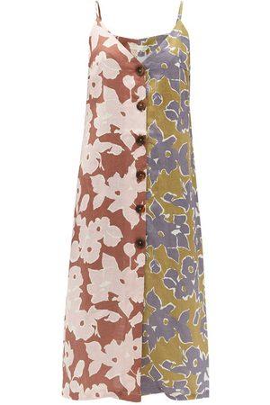 Cala De La Cruz Luisa floral-print linen midi dress