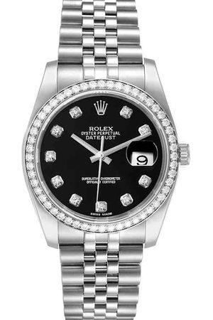 Rolex Diamonds Stainless Steel Datejust 116244 Men's Wristwatch 36 MM