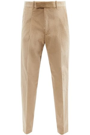 Paul Smith Pleated Corduroy Tapered-leg Trousers - Mens
