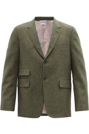 Thom Browne University Wool Donegal-tweed Blazer - Mens
