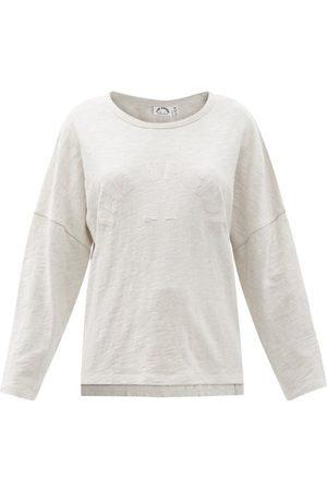The Upside Hazel Cotton-mélange Long-sleeved T-shirt - Womens - Light Grey
