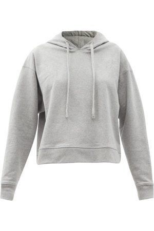 Christopher Kane Women Sweats - More Joy-embroidered Jersey Hooded Sweatshirt - Womens - Light Grey