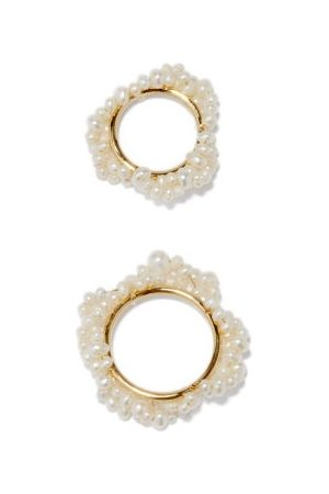 COMPLETEDWORKS Set Of Two P22 Pearl & 14kt Gold-vermeil Rings - Womens - Pearl