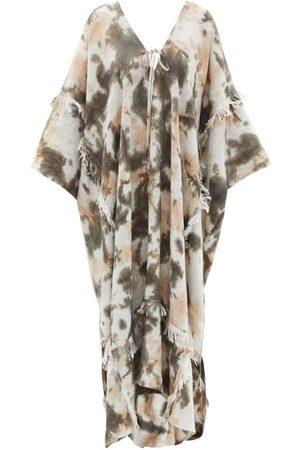 Fil De Vie Zadie Tie-dye Linen Kaftan Dress - Womens - Multi