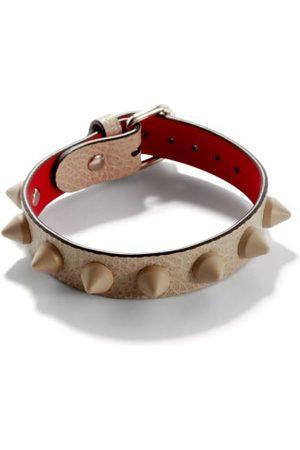 Christian Louboutin Loubilink Spike-embellished Leather Bracelet - Mens