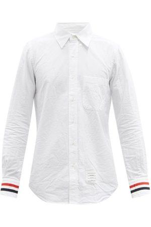 Thom Browne Tricolour-cuff Cotton-oxford Shirt - Mens