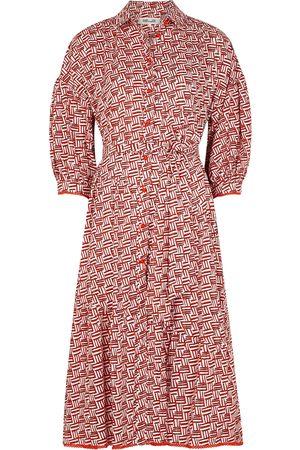 Diane von Furstenberg Luna printed cotton shirt dress