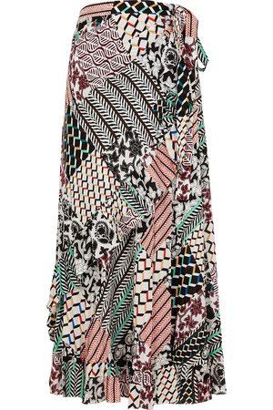 Diane von Furstenberg Women Printed Skirts - Rosalia printed wrap skirt