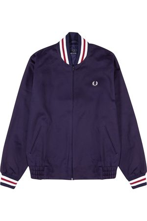 Fred Perry J7322 navy twill bomber jacket