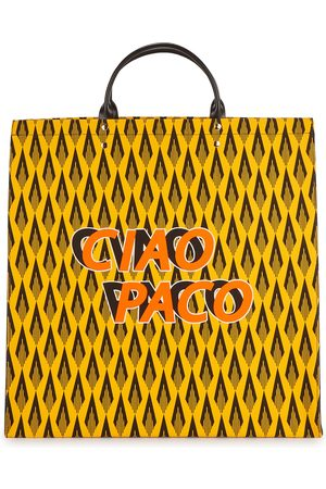 Paco rabanne Ciao Paco printed canvas tote