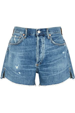 Citizens of Humanity Women Shorts - Marlow blue distressed denim shorts
