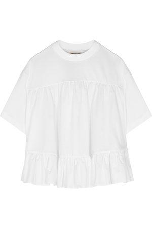 Alexander McQueen Tiered cotton T-shirt