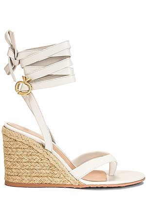 Gianvito Rossi Strappy Espadrille Wedges in