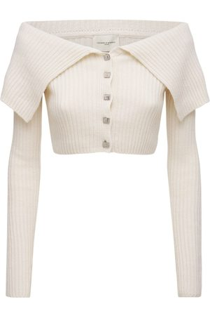 GIUSEPPE DI MORABITO Women Strapless Tops - Off-the-shoulder Wool Blend Knit Top