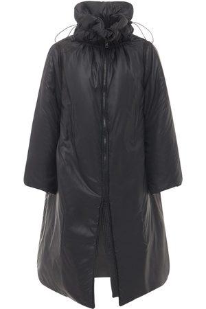RED Valentino Women Puffer Jackets - Long Padded Nylon Caban Jacket