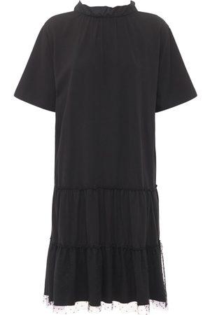 RED Valentino Cotton Jersey Mini Dress W/ Bow