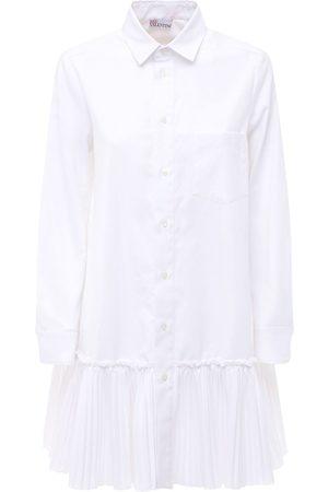 RED Valentino Ruffled Poplin Mini Shirt Dress
