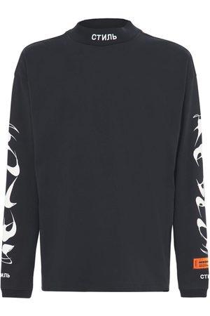 Heron Preston Printed Cotton Jersey L/s T-shirt